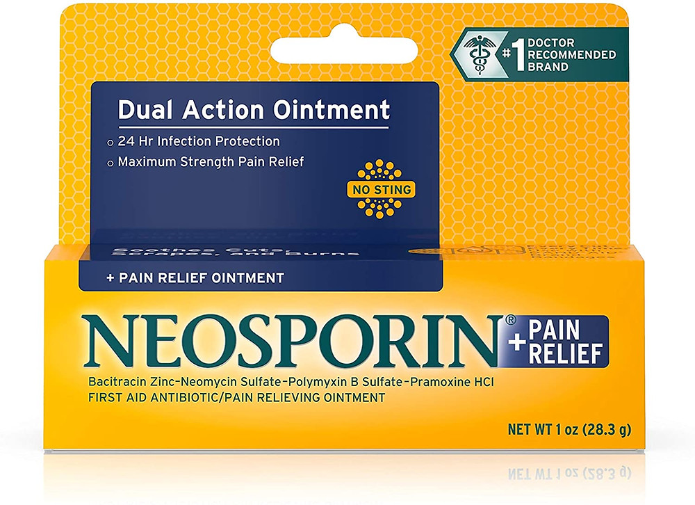 Neosporin + Pain Relief Dual Action Ointment packaging