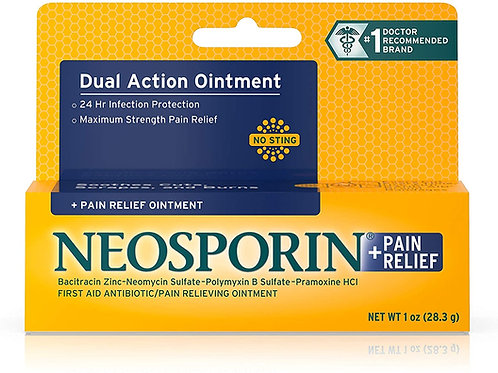 Neosporin Max Strength Pain Relief Dual Action Antibiotic Ointment