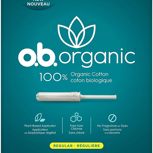 o.b. Organic Tampons-regular
