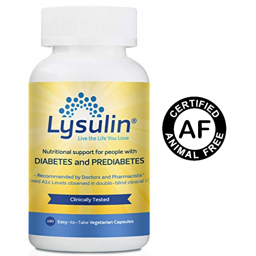 Lysulin, a diabetes supplement, is certified by VeganMed's Animal-Free Certification