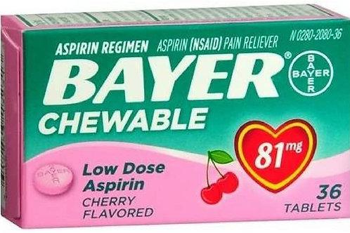 Bayer Chewable Low Dose Baby Aspirin Cherry