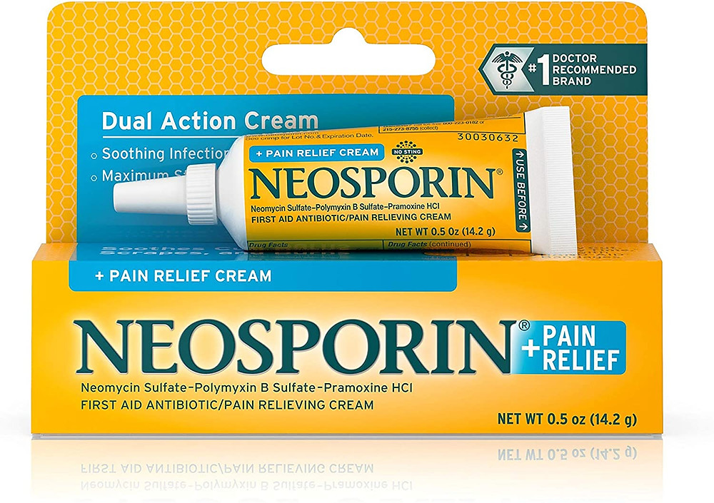 Neosporin dual action cream and pain relief