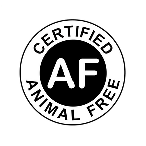 Animal-Free Certification Logo. This certifies a product is free from animal ingrediets.