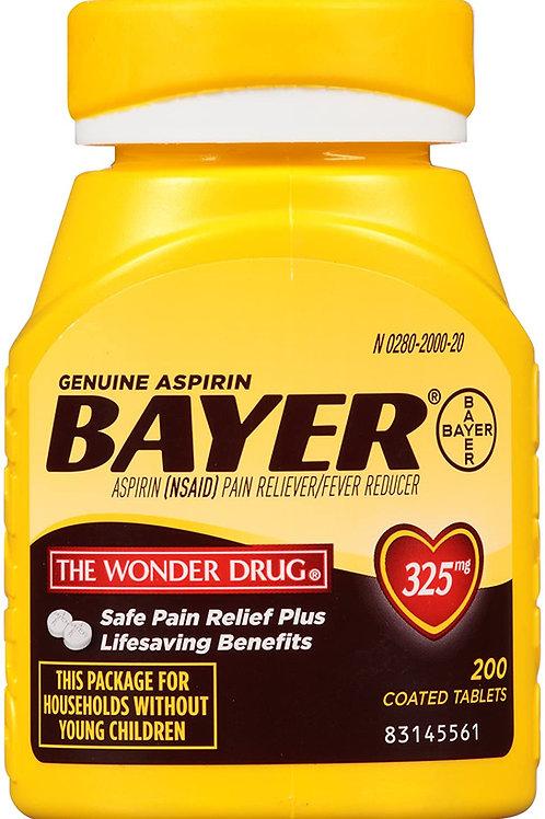 Bayer Aspirin 325mg Coated Tablets