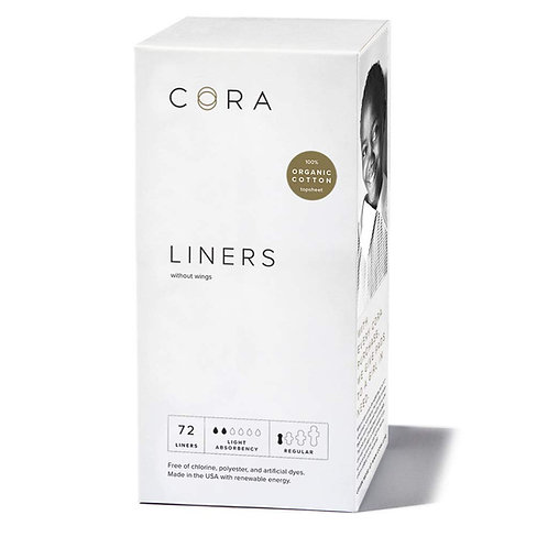 Cora Ultra Thin Organic Cotton Women's Breathable Panty Liners