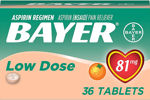 Bayer Aspirin Regimen Bayer 81mg Chewable Tablets, Orange
