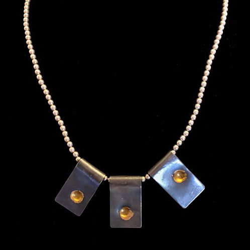 Phi Rectangles with Gold Necklace