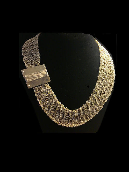 Silver Knit Collar
