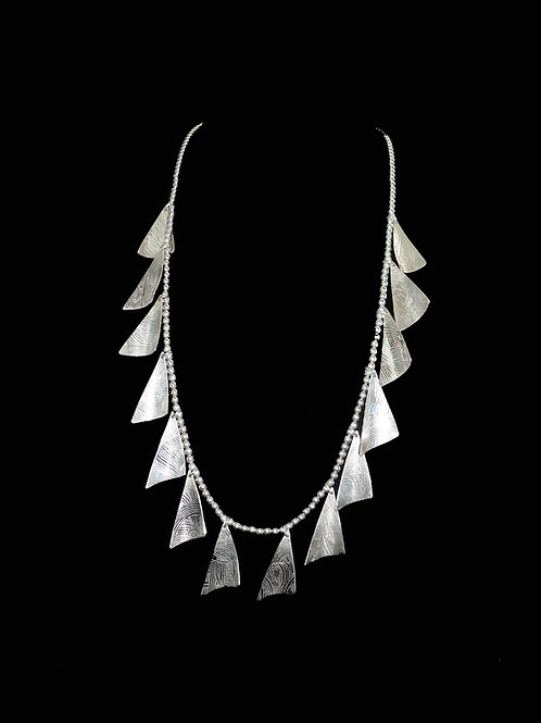 Triangle Sails in the Wind Necklace