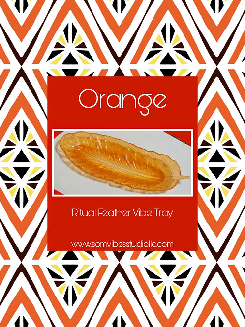 Orange Feather Tray