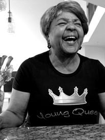 G7 'Young Queen' Black Short Sleeve Tee