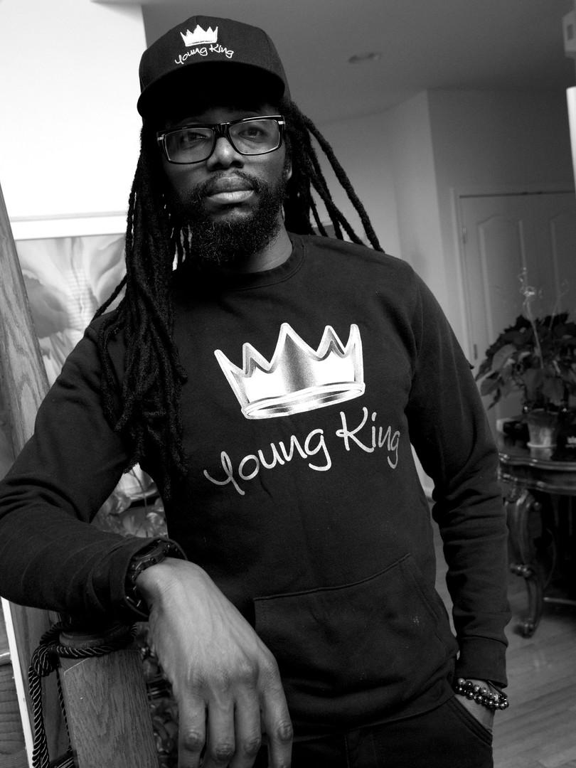 G7 'Young King' Black Long Sleeve Tee