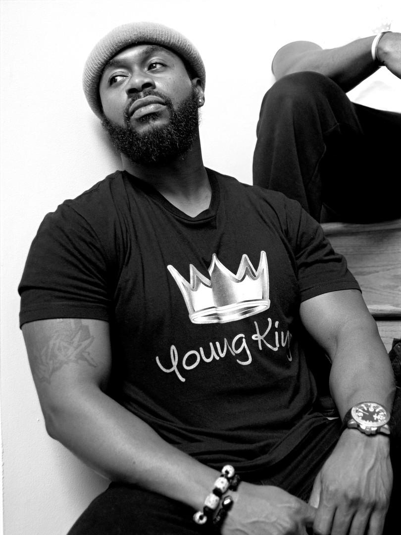 G7 'Young King' Black Short Sleeve Tee