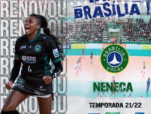 Brasília Vôlei renova com a ponteira Neneca