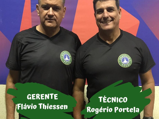 O Brasília Vôlei apresenta o Gerente Flavio Thiessen e o Técnico Rogério Portela