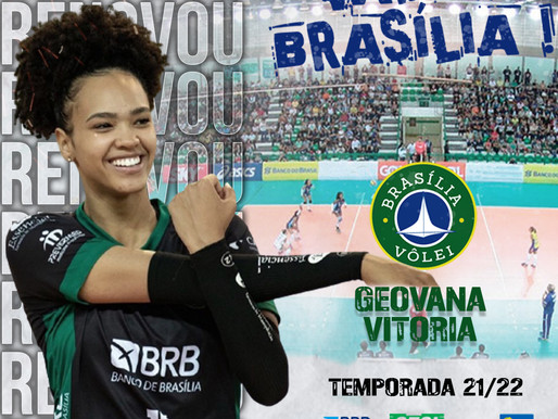 Brasília Vôlei renova com a central Geovana