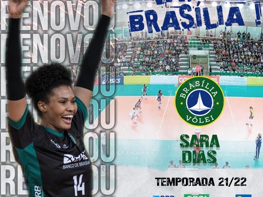Brasília Vôlei renova com a oposta Sara Dias