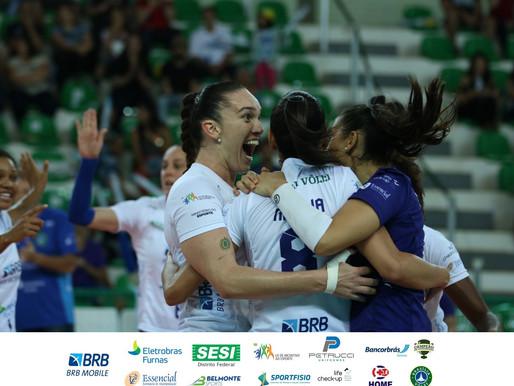 BRB/Brasília Vôlei conquista primeira vitória na Superliga