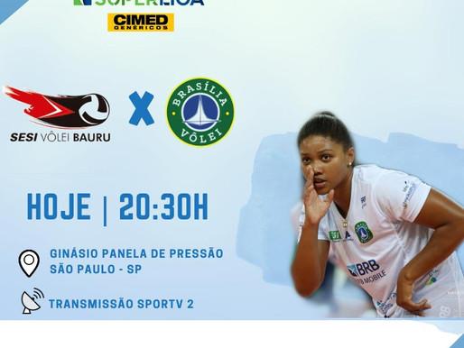 BRB - Brasília Vôlei enfrenta hoje o atual campeão Paulista.
