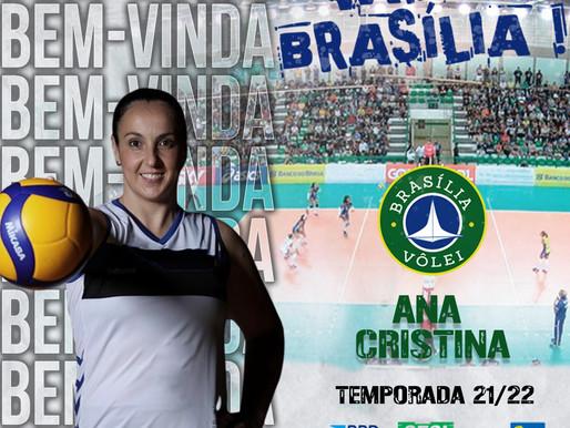 Brasília Vôlei anuncia contratação da levantadora Ana Cristina