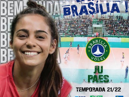 Brasília Vôlei anuncia contratação da líbero Ju Paes