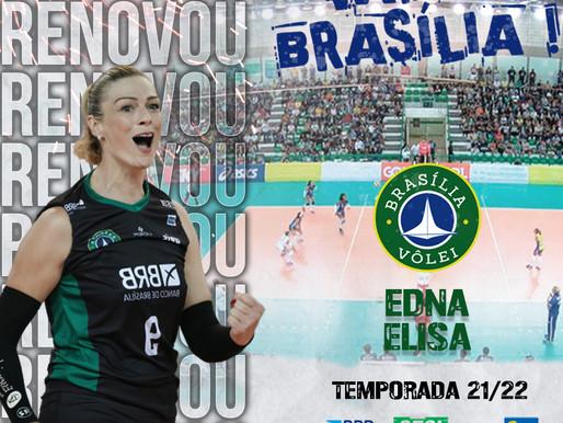 Brasília Vôlei renova com a central Edna