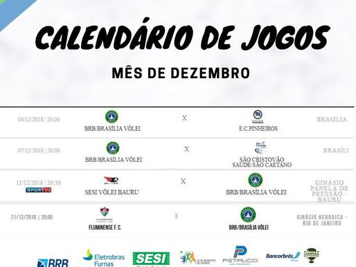 Jogos do BRB - Brasília vôlei em Dezembro