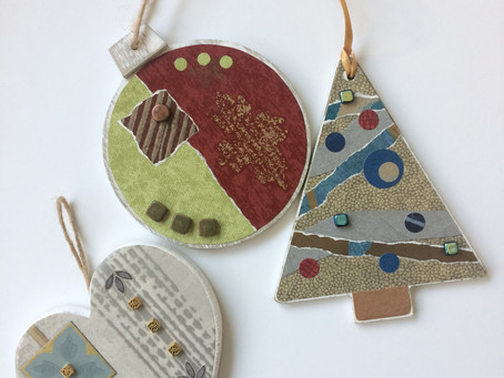 Adding Collage to Holiday Ornaments