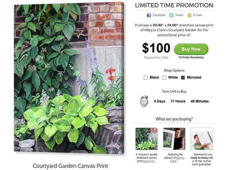 Limited Time Promotion: Canvas Print at a Reduced Price