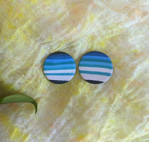 Serape River Large Circle Stud