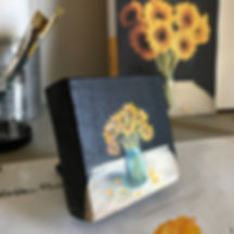 Mini Masterpiece Monday Kintsugi Artist Art Instructor Dionne White South Carolina Nature and Inspirational Artist. Sunflower Artist Dionne White SC