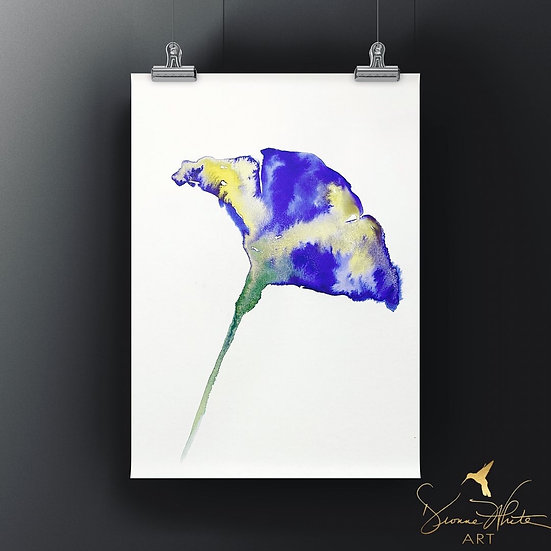 Abstract Purple Iris