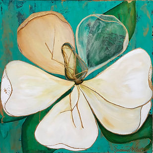 Kintsugi Art, magnolia art by Dionne White South Carolina Kintsugi Artist