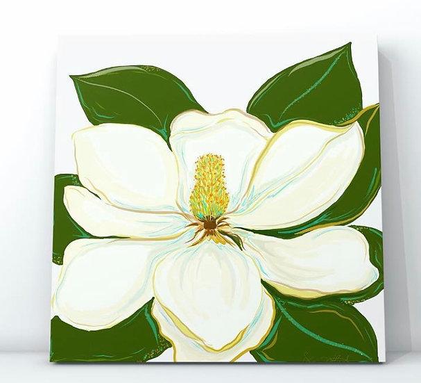Teal Magnolia - Digital Art Print