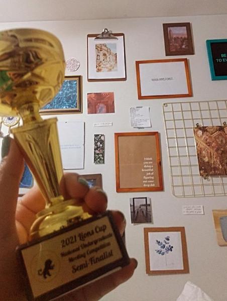 Serena Allidina Semi Finalist Award for Lions Cup 2021