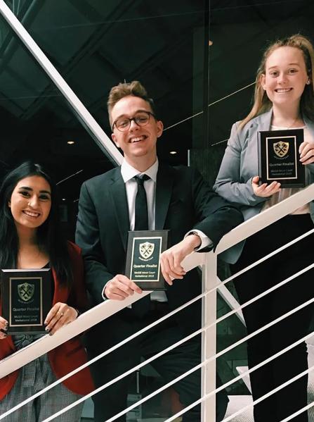 Maheen Nazim, Michael Mcrea and Emma Danaher at McGill 2019
