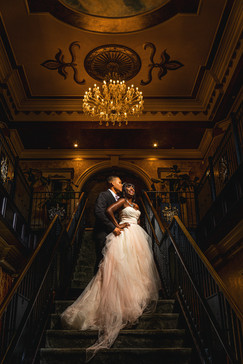 Crystal & Solomon on the stairs