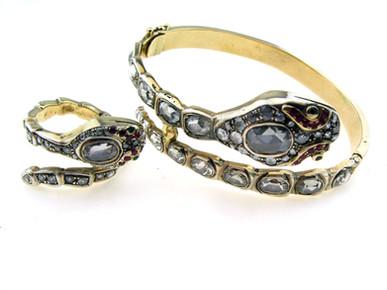 טבעת וצמיד ויקטוריאניים