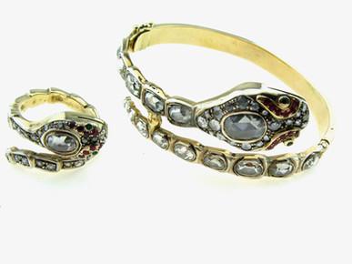 צמיד וטבעת ויקטוריאניים
