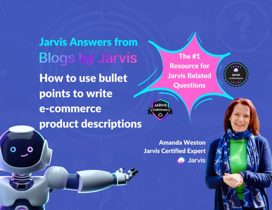 Jarvis Answers: How to Use Bullet Points to Write E-Commerce Product Descriptions