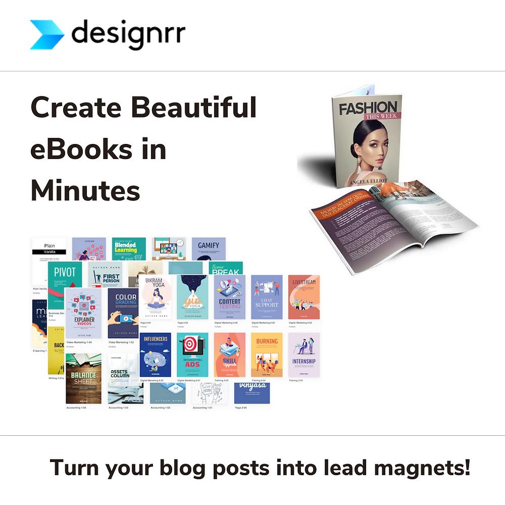Create e-books in Designrr