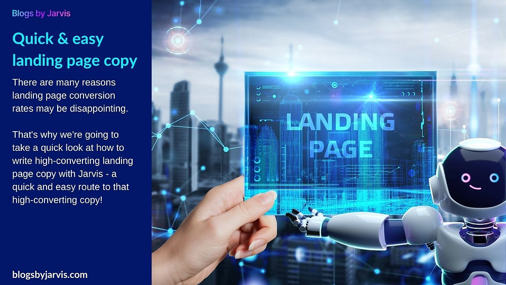 Blogs by Jarvis - Quick & easy landing page copy with Jarvis
