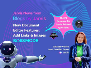 Add Links & Images in Jarvis AI Document Editor - New Updates October 2021