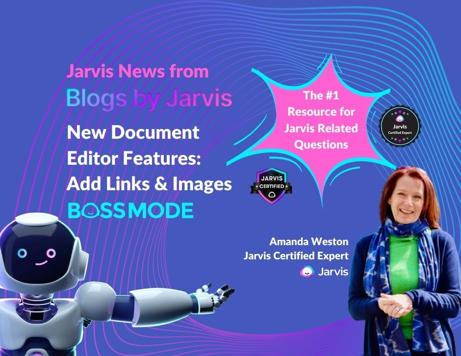 Add Links & Images in Jarvis AI Document Editor