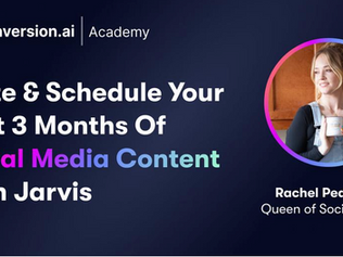 Guest Training with Rachel Pedersen: How To Write & Schedule 3 Months Of Social Media Content