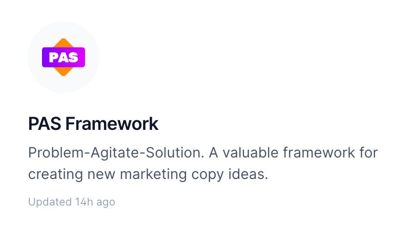 PAS FRAMEWORK for Problem-Agitate-Solution Marketing