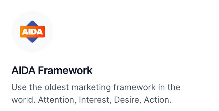 AIDA Framework for Copywriting