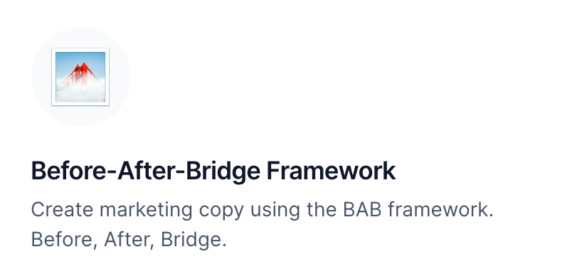 BEFORE-AFTER-BRIDGE Marketing Framework