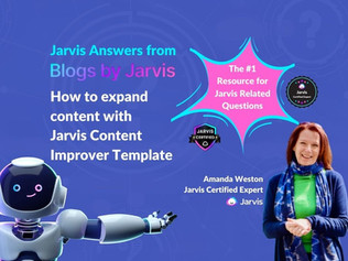 Jarvis Answers: How to expand content with Jarvis Content Improver Template