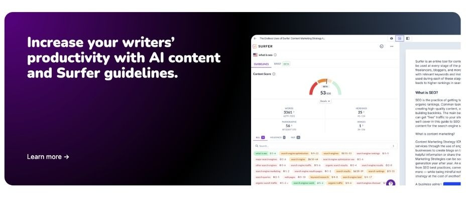 Surfer SEO for Long-Form Content - Blogs by Jarvis